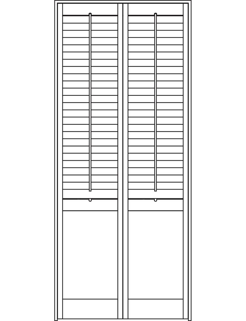 Solid panels below the midrail