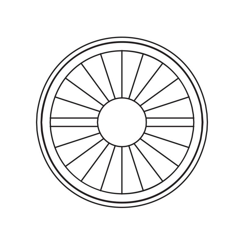 Perfect circle port hole design